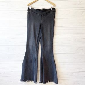 Free People Side Zip Super Flare Jeans